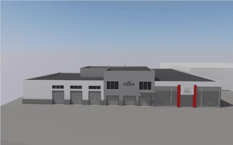 3D tegning av et bygg