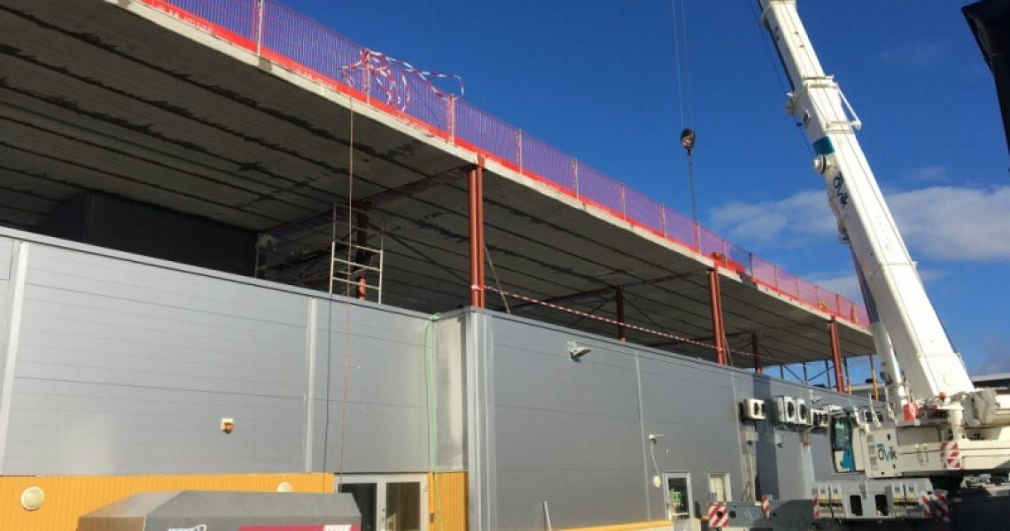 Bygging av Sortland Senter